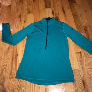Nike blue/green running pullover